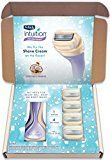 Schick Intuition Pure Nourishment Razor and Refill Value Pack for Women with 4 Razor Blade Refills