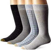 Gold Toe Men's Tattersal Plaid Crew 4-Pack Sock