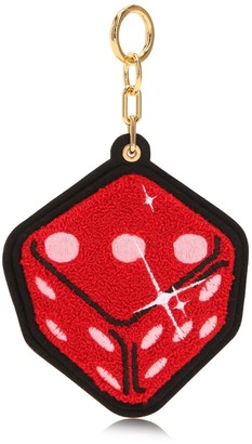 Chaos Red Dice Chenille Keychain