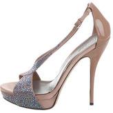 Gucci Strass-Embellished Platform Sandals