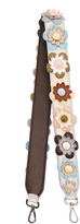 Fendi Strap You floral-appliqué leather bag strap