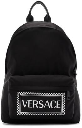Versace Black Logo Backpack