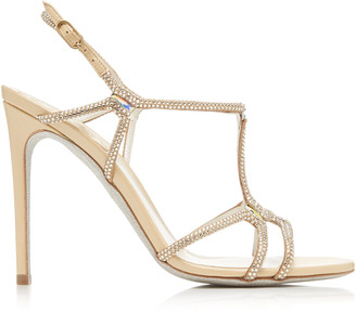 Rene Caovilla Crystal-Embellished Leather Sandals