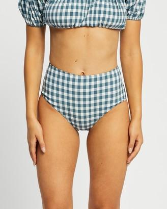 Faithfull The Brand Women's Blue Bikini Bottoms - Bonnieux Bottoms - Size 8 at The Iconic