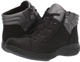 Aravon Rev Stridarc Waterproof Low Boot (Black Nubuck) Women's Boots