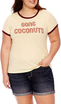 Arizona Gone Coconuts Graphic T-Shirt- Juniors Plus