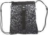 Dolce & Gabbana Grey And Black Animalier Nylon Backsack