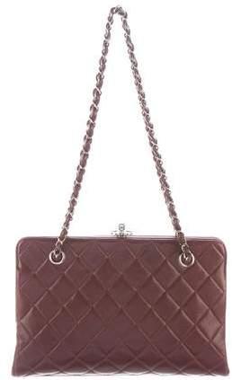 Chanel Lambskin Frame Shoulder Bag