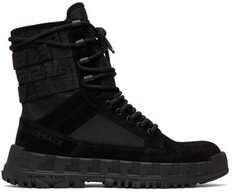 Versace Black High Sneaker Boots