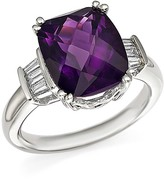 Bloomingdale's Amethyst and Diamond Statement Ring in 14K White Gold