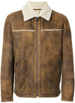 Drome fur collar jacket - men - Lamb Skin/Polyester/Viscose/Lamb Fur - S