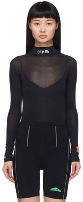 Heron Preston Black Style Turtleneck Bodysuit