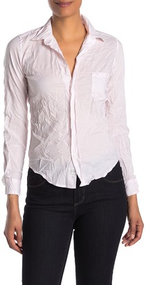 Frank And Eileen Barry Signature Crinkled Long Sleeve Button Front Shirt