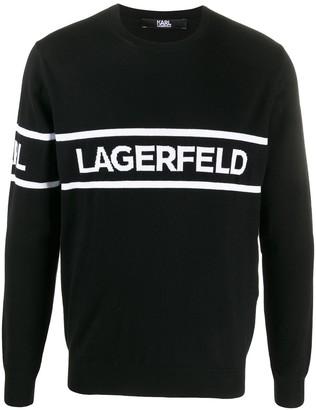 Karl Lagerfeld Paris Logo Print Jumper