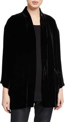 Eileen Fisher Petite Velvet Kimono Jacket