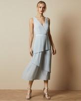 Ted Baker Pleated Tiered Midi Dress