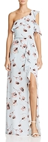 BCBGMAXAZRIA Floral Print One-Shoulder Gown - 100% Exclusive