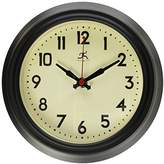 "Infinity Instruments 8"" Retro Diner Black Silent Wall Clock"