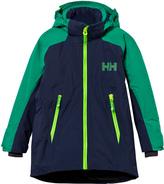 Helly Hansen Navy and Green Junior Stuben Ski Jacket