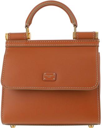 Dolce & Gabbana Brown Leather Top-Handle Satchel Bag