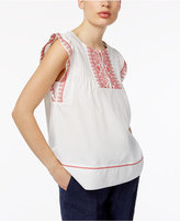 Max Mara Crasso Cotton Embroidered Top