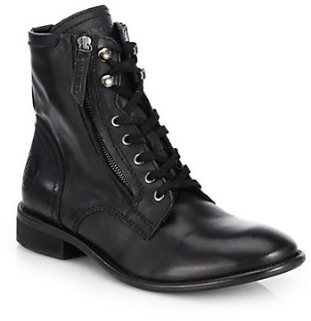 Diesel The Pit Leather Military Boots