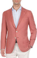 Isaia Heathered Silk Blazer