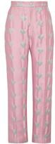 Lisou Hetty Metallic Pink Heart Jacquard Trousers