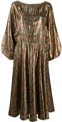 A.N.G.E.L.O. Vintage Cult 1970s Plaid Midi Dress
