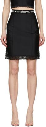 alexanderwang.t Black Logo Elastic Skirt