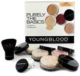 Young Blood Youngblood Purely The Basics Kit - #Light (2xFoundation 1xMineral Blush 1xSetting Powder 1xBrush 1xMineral Powder) 6pcs
