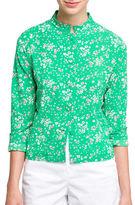 Agnès B. Long Sleeve Floral-Print Shirt