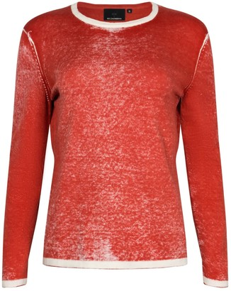 Ny Charisma Red Cotton Hand Print Pullover