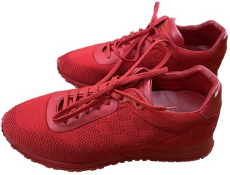 Louis Vuitton Run Away Red Cloth Trainers