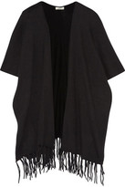 Joie Lucrece Fringed Wool And Cashmere-Blend Cape