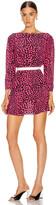Rixo Kyla Dress in Pink Leopard | FWRD