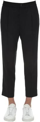 Ami Alexandre Mattiussi Pleated Cool Wool Pants W/ Elastic Waist