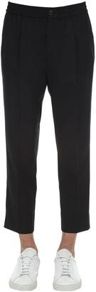 Ami Alexandre Mattiussi Pleated Cool Wool Pants W/ Elastic Waist