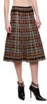 Bottega Veneta Mid-Rise Pleated A-Line Skirt, Multi Colors