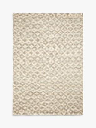 John Lewis & Partners Lattice Rug, Neutral/White, L240 x W170 cm