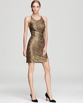 Racerback Dress - Tenya Metallic Lace