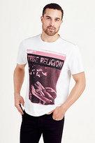 True Religion Black Album Mens Tee