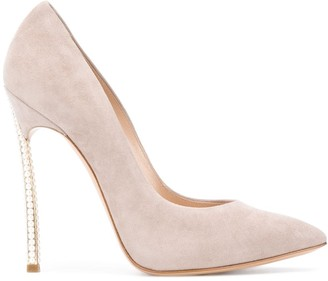 Casadei Embellished Stiletto Heel Suede Pumps