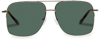 Le Specs Luxe Equilateral 58MM Aviator Sunglasses