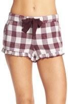 Make + Model Women's Plaid Ruffle Pajama Shorts