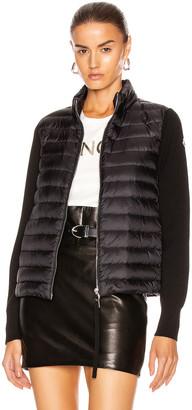 Moncler Cardigan Tricot Jacket in Black | FWRD