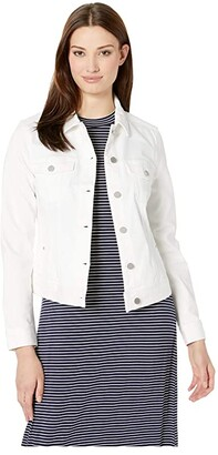 Liverpool Classic Jean Jacket (Bright White) Women's Clothing