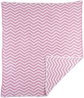 Lolli Living 203181 Chevron Chenille Blanket - Pastel Pink