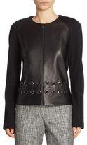 St. John Knit Leather Jacket