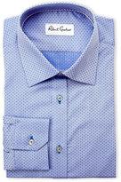 Robert Graham Blue Chandler Pindot Dress Shirt